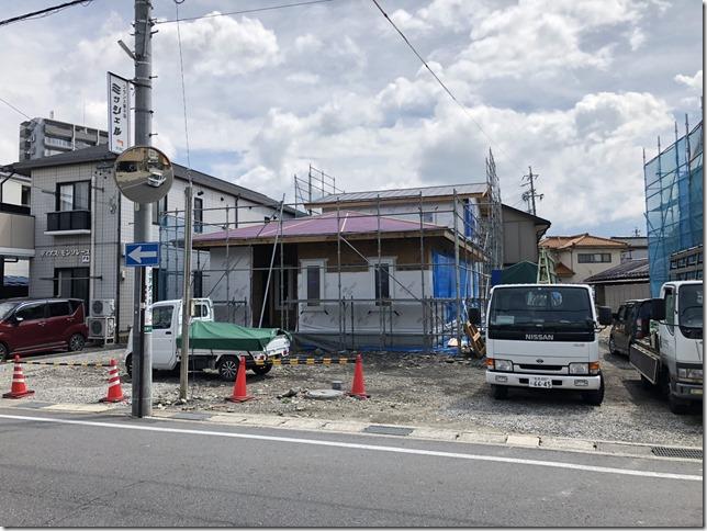 松本市庄内の家 工事中 キレイ
