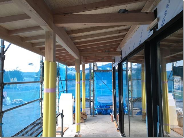 軒下 テラス席 安曇野いろりはやかわ家 店舗新築工事 英設計 オープンシステム