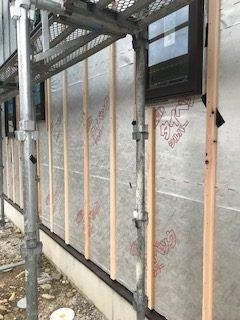 木造住宅外壁下地の写真