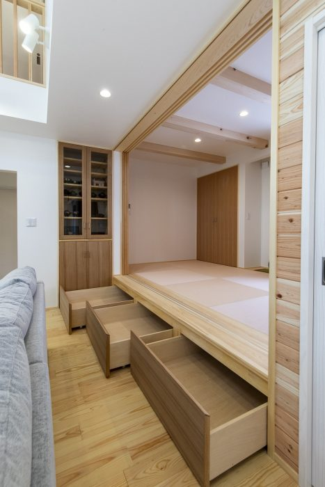 和室のこあがりと収納のある住まい