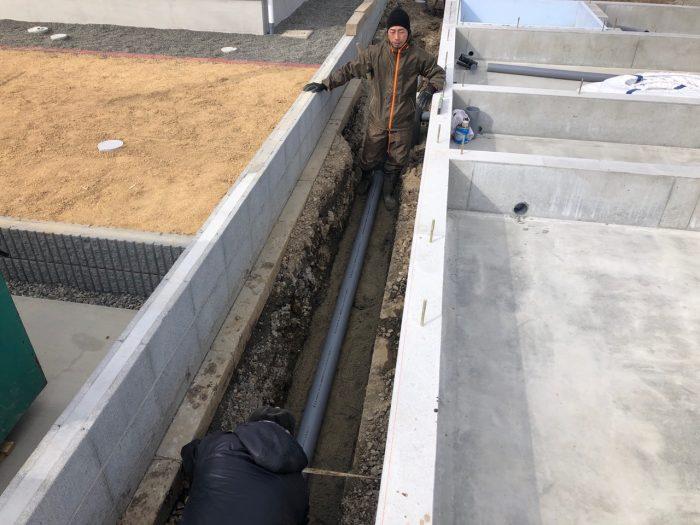 給排水設備配管の様子写真