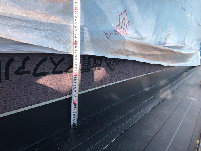 屋根の防水部分の確認の様子写真