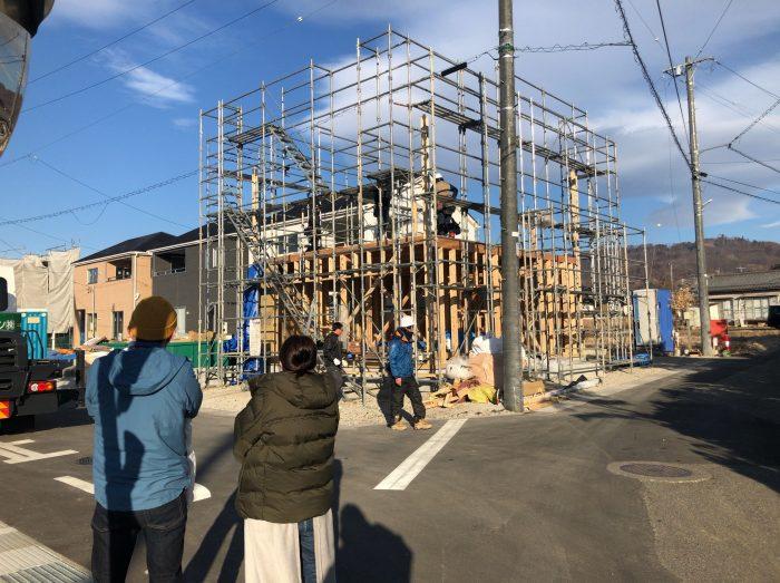 木造住宅上棟の写真